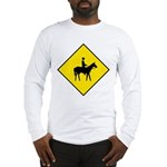 Horse Crossing Sign Long Sleeve T-Shirt