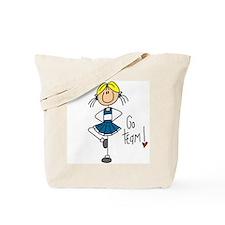Blue Cheerleader Tote Bag