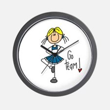 Blue Cheerleader Wall Clock