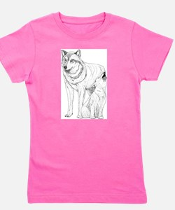 Wolf Parent and Baby Ash Grey T-Shirt