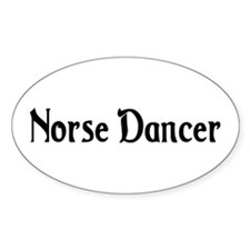 Norse Dancer Oval Decal