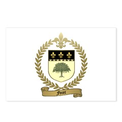 FORET Family Crest Postcards (Package of 8)