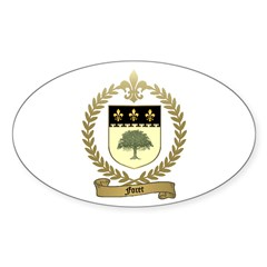 FORET Family Crest Oval Decal