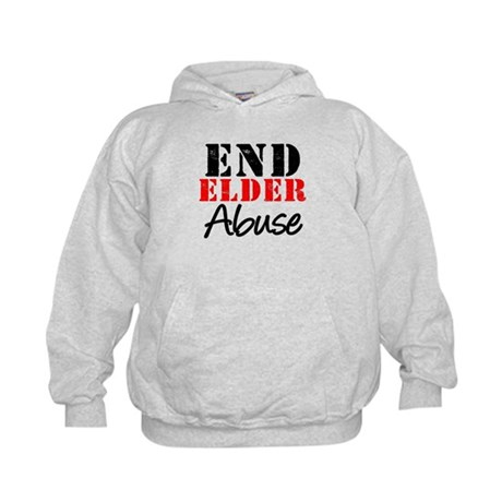 End Elder Abuse Kids Hoodie