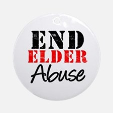End Elder Abuse Ornament (Round)