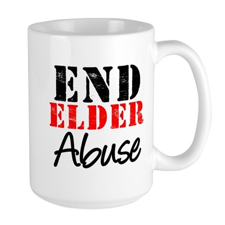 End Elder Abuse Large Mug