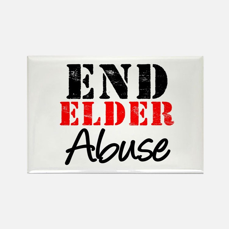 End Elder Abuse Rectangle Magnet