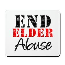 End Elder Abuse Mousepad