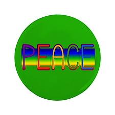 """Peace Rainbow 3.5"""" Button"""