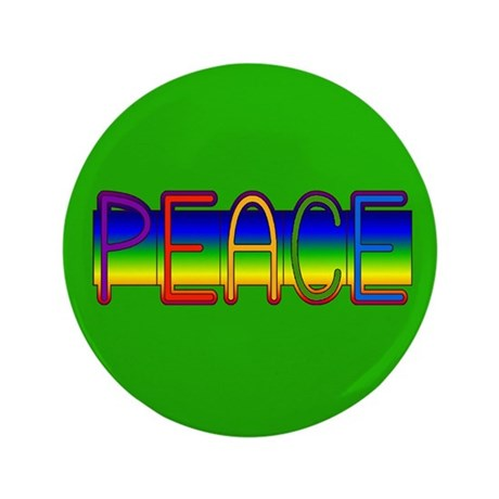 "Peace Rainbow 3.5"" Button (100 pack)"