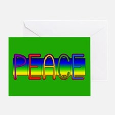 Peace Rainbow Greeting Card