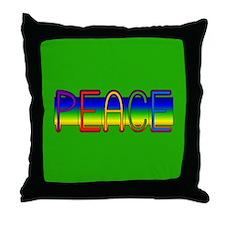 Peace Rainbow Throw Pillow
