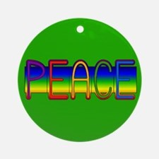 Peace Rainbow Ornament (Round)