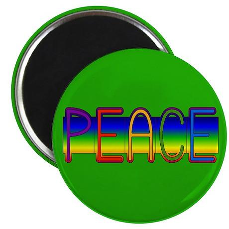 "Peace Rainbow 2.25"" Magnet (100 pack)"