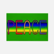 Peace Rainbow Rectangle Magnet