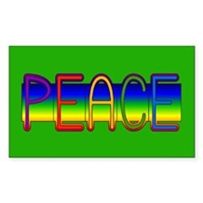 Peace Rainbow Rectangle Decal