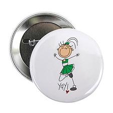 """Green Cheerleader 2.25"""" Button"""