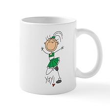 Green Cheerleader Mug