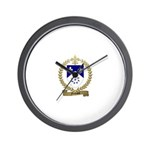 FONTAINE Family Crest Wall Clock