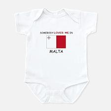 Somebody Loves Me In MALTA Infant Bodysuit