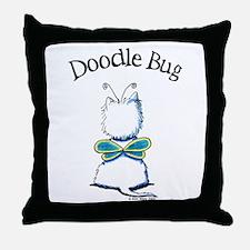 Doodle Bug Westie Throw Pillow