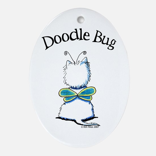 Doodle Bug Westie Oval Ornament