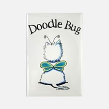 Doodle Bug Westie Rectangle Magnet