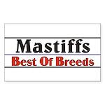 Mastiff Best Of Breeds Dog Rectangle Sticker
