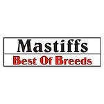 Mastiff Best Of Breeds Dog Bumper Sticker