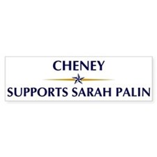 CHENEY supports Sarah Palin Bumper Bumper Bumper Sticker