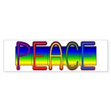 Peace Rainbow Bumper Bumper Sticker