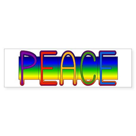Peace Rainbow Bumper Sticker