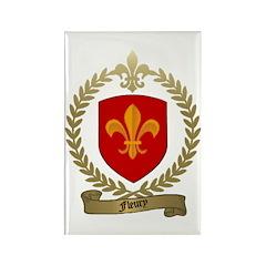 FLEURY Family Crest Rectangle Magnet (100 pack)