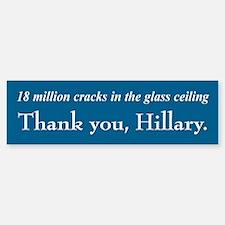Thank You Hillary Bumper Bumper Bumper Sticker