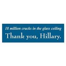 Thank You Hillary Bumper Bumper Sticker