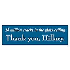 Thank You Hillary Bumper Bumper Stickers