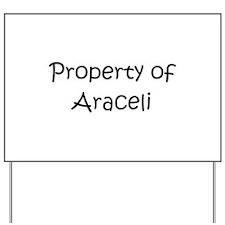Cool Araceli Yard Sign