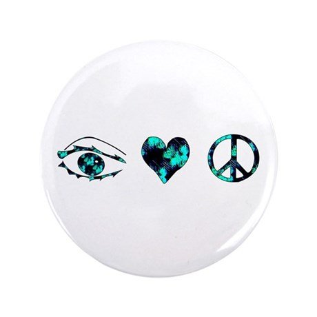 "I Heart Peace 3.5"" Button (100 pack)"