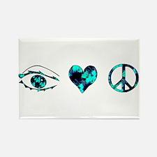 I Heart Peace Rectangle Magnet