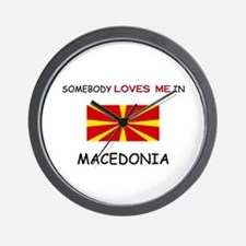 Somebody Loves Me In MACEDONIA Wall Clock
