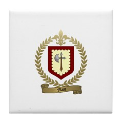 FLANC Family Crest Tile Coaster