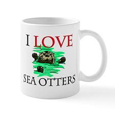I Love Sea Otters Mug