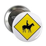 "Horse and Rider Sign - 2.25"" Button (100 pack)"