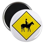 "Horse and Rider Sign - 2.25"" Magnet (10 pack)"