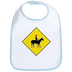 Horse and Rider Sign - Bib