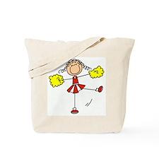 Red Cheerleader Tote Bag