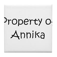 Funny Annika Tile Coaster