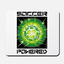 Soccer Powered (Green) Mousepad