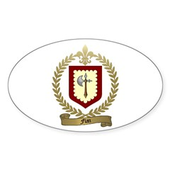 FLAN Family Crest Oval Decal