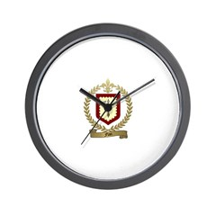 FLAN Family Crest Wall Clock